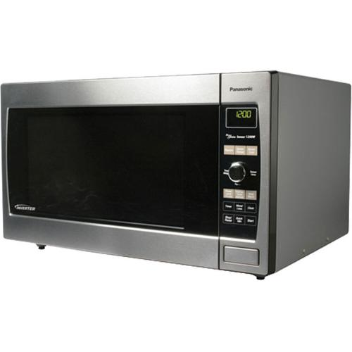Panasonic - Luxury Full-Size 2.2 cu. ft. Countertop/Built-In Microwave Oven with Inverter Technology, Stainless