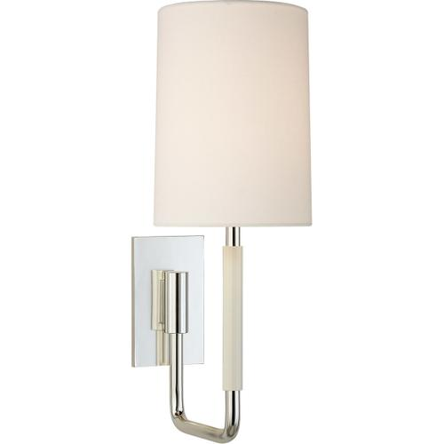 Barbara Barry Clout 1 Light 5 inch Soft Silver Wall Sconce Wall Light, Small