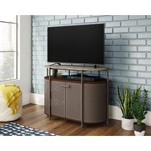 Mid-Century Modern Wood & Metal TV Stand