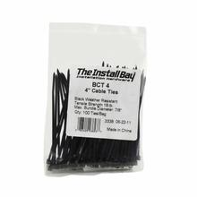 4 Inch Black Cable Tie Package of 100