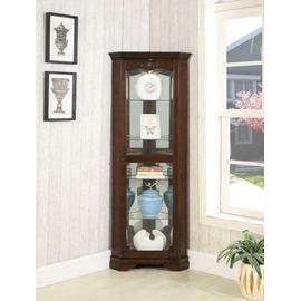 See Details - Traditional Golden Brown Curio Cabinet