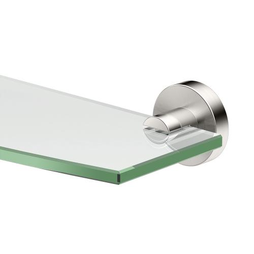 Glam Glass Shelf in Satin Nickel