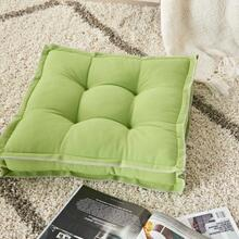 "Outdoor Pillows Qy029 Green 18"" X 18"" X 3"" Seat Cushion"