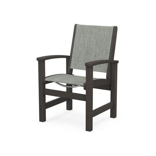 Coastal Dining Chair in Vintage Coffee / Birch Sling