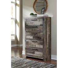 Derekson Five Drawer Chest Multi Gray