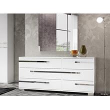 The Wave High Gloss White Lacquer Dresser