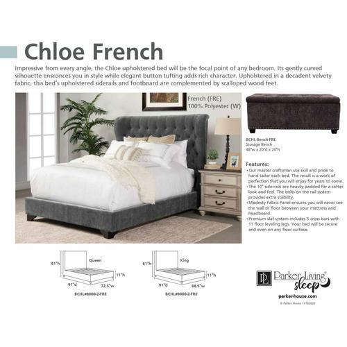 CHLOE - FRENCH Storage Bench