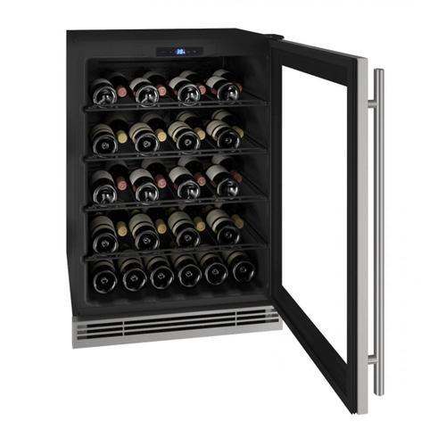 "U-Line - Hwc024 24"" Wine Refrigerator With Stainless Frame Finish (115v/60 Hz Volts /60 Hz Hz)"
