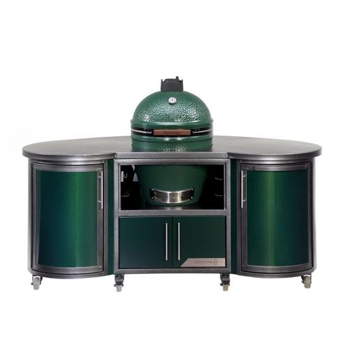 Cooking Island- Custom 76 Inch Island for Egg- Flat Green