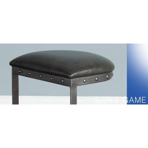 """24""""H Metal Stool w/ Black Cushion Seat"""