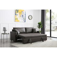 See Details - Rebecca Sofa with Pull-Out Bed, Brown PU