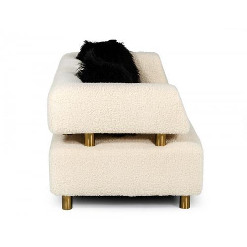 VIG Furniture - Divani Casa Gannet - Glam Beige Fabric Sofa