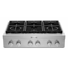 See Details - KitchenAid® 36'' 6-Burner Commercial-Style Gas Rangetop - Stainless Steel