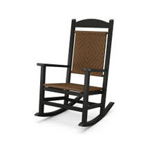 View Product - Presidential Woven Rocking Chair in Tigerwood