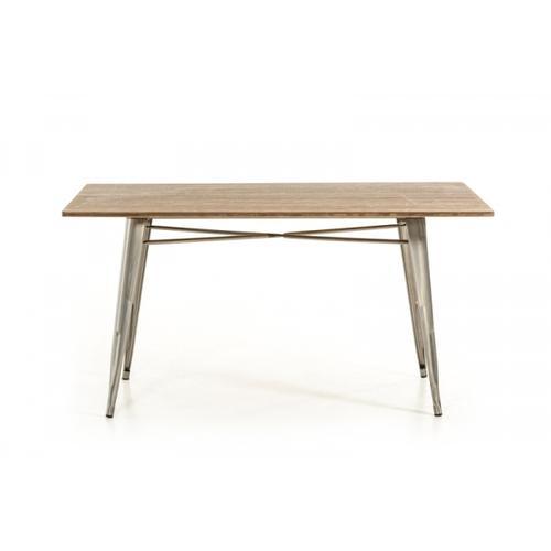 Modrest Ford Modern Steel & Wood Dining Table