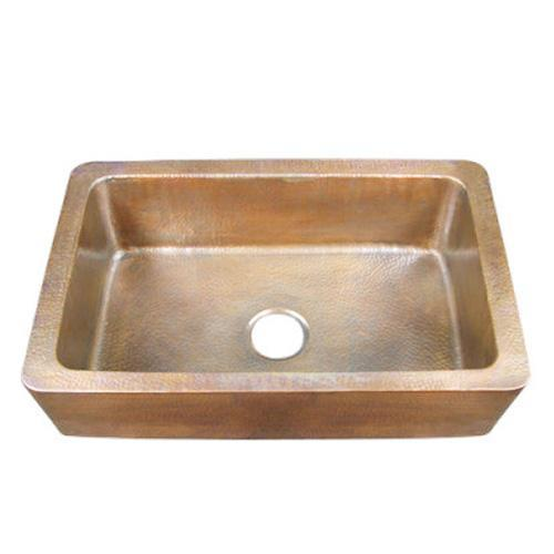 "Delta 32"" Single Bowl Copper Farmer Sink"