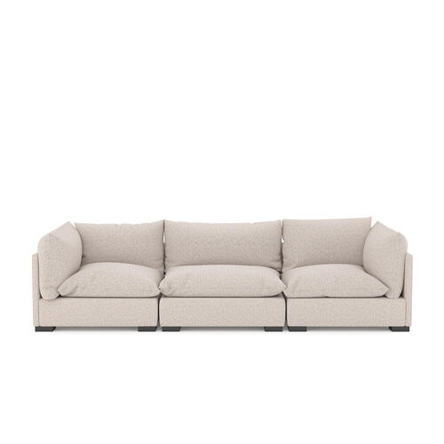3 PC Sectional Configuration Bayside Pebble Cover Westwood 3 Piece Sectional