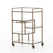 Antique Brass Finish Helena Bar Cart