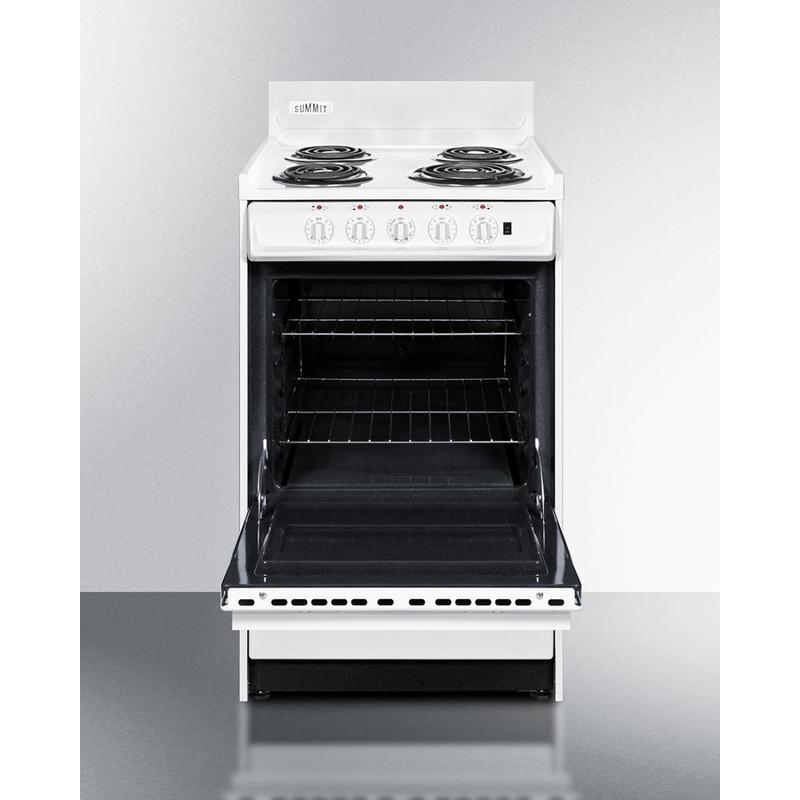 """20"""" Wide Electric Coil Top Range"""
