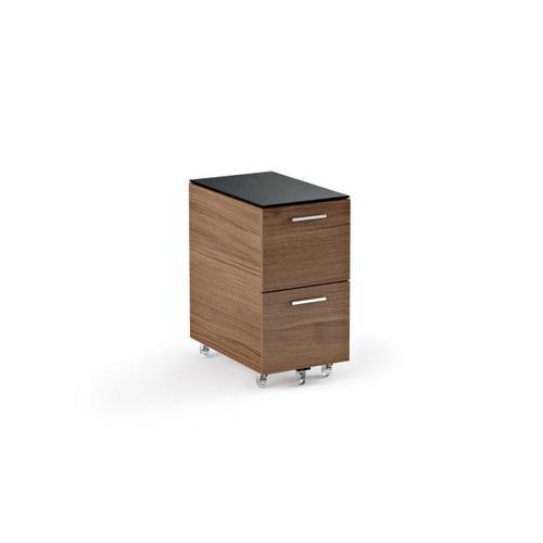 Mobile File Cabinet 6005 in Natural Walnut