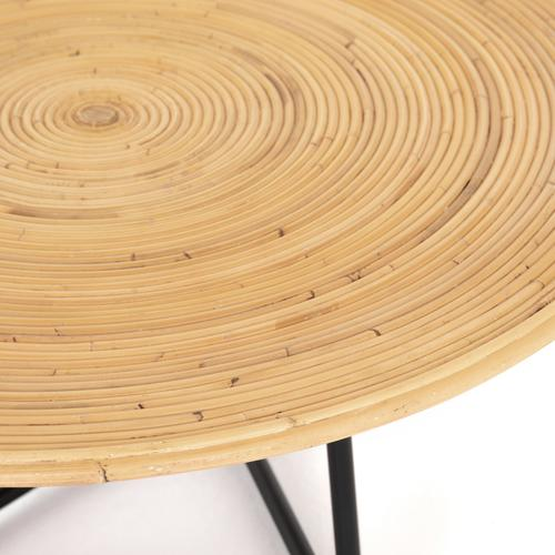 Clover Round Coffee Table-honey Rattan
