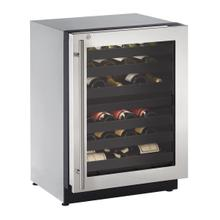 """View Product - 2224zwc 24"""" Dual-zone Wine Refrigerator With Stainless Frame Finish and Right-hand Hinge Door Swing (115 V/60 Hz Volts /60 Hz Hz)"""
