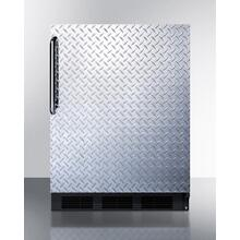 ADA Compliant Built-in Undercounter All-refrigerator for General Purpose or Commercial Use, Auto Defrost W/diamond Plate Door, Tb Handle, and Black Cabinet