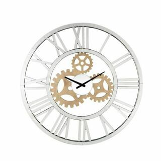 ACME Acilia Wall Clock - 97725 - Glam - Mirror, Glass, MDF - Mirrored