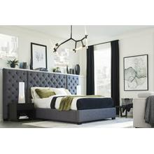 ZOEY - STORM Queen Bed with Side Panels 5/0