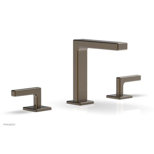"""MIX Widespread Faucet - Lever Handles 6-3/4"""" Height 290-02 - Old English Brass"""