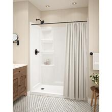 White ProCrylic 60 in. x 30 in. Shower Base Left Drain