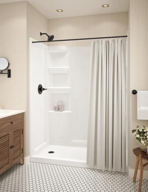 White ProCrylic 60 in. x 30 in. Shower Base Left Drain Product Image