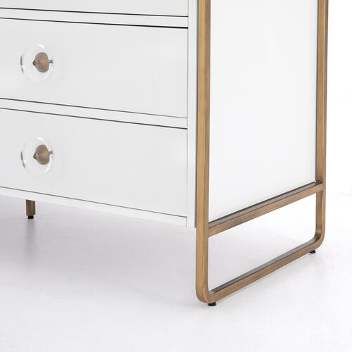 Sorella 6 Drawer Dresser-bright White