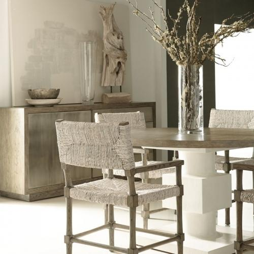 Newberry Round Dining Table in Rustic Gray