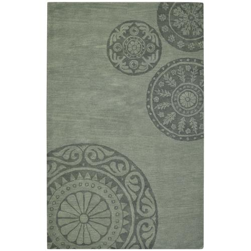 Arrondelle-Medallion Jade Hand Tufted Rugs