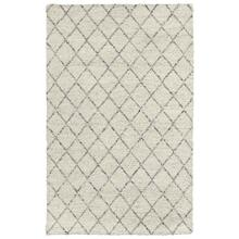 See Details - Diamond Looped Wool Ivory 8x10