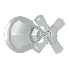 Palladian Trim for Volume Controls and Diverters - Polished Chrome with Cross Handle