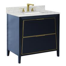 View Product - CANTO Metal Trim 36-in Single-Basin Vanity