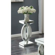 Contemporary Silver Mirrored Side Table