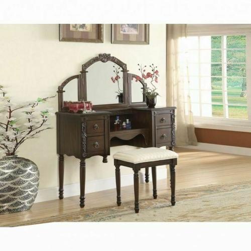 ACME Ashton Vanity Desk & Stool - 06540 - Oak