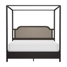 See Details - Melanie Wood and Metal King Canopy Bed, Oiled Bronze