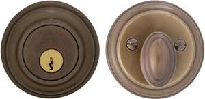 Traditional Auxiliary Deadbolt Kit in (SB Shaded Bronze, Lacquered) Product Image