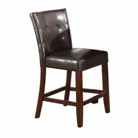 ACME Danville Counter Height Chair (Set-2) - 07055 - Espresso PU & Walnut