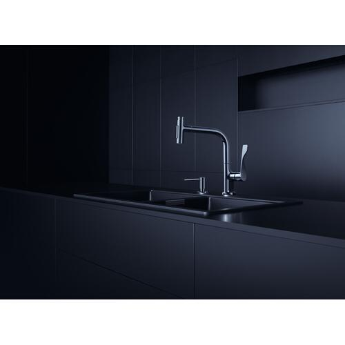 Chrome Single lever kitchen mixer Select 230 2jet with pull-out spray and sBox
