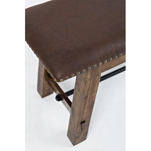 Jofran - Cannon Valley Bench W/uph Seat