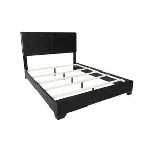 ACME Ireland III Eastern King Bed (Panel) - 14337EK - Black PU