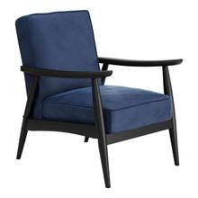 Rocky Velvet Arm Chair Blue