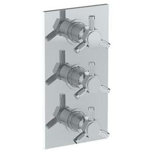 "Wall Mounted Thermostatic Shower Trim With 2 Built-in Controls, 6 1/4"" X 12"" Product Image"