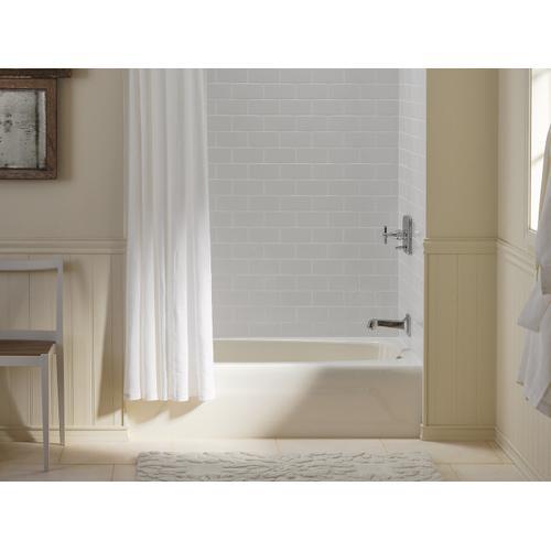 """White 54"""" X 31"""" Alcove Bath With Right-hand Drain"""