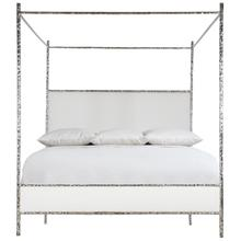 King-Sized Odette Upholstered Canopy Bed